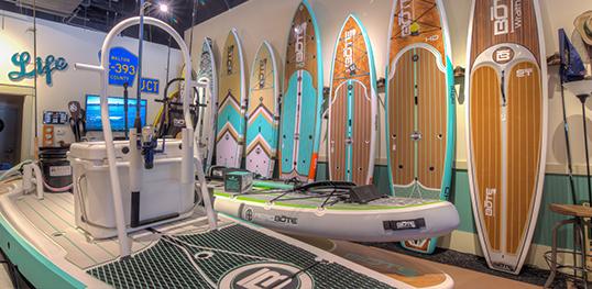 som ambiente para loja de surf