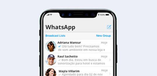 sonorização whatsapp